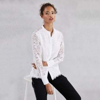 The White Company Lace Shirt , Ivory, 6