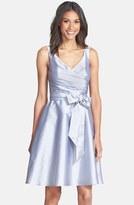 Alfred Sung Women's Peau De Soie Fit & Flare Dress
