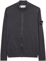 Stone Island Charcoal Knitted Cotton Jumper