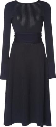 Victoria Beckham Crossback Flared Jersey-Knit Dress
