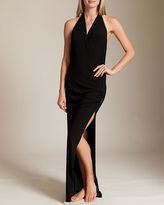 Norma Kamali Daphne Halter Gown