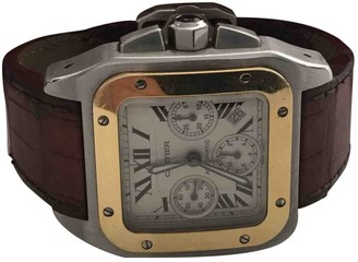 Cartier Santos 100 XL Chronographe Metallic gold and steel Watches