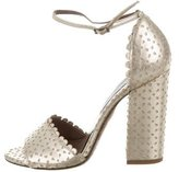 Tabitha Simmons Laser Cut Leather Sandals