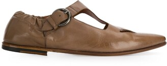 Silvano Sassetti Cutout Detail Buckled Leather Shoes