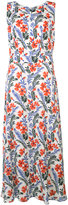 Carolina Herrera floral print long dress - women - Silk/Spandex/Elastane - 2