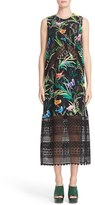 N°21 Women's N?21 Tropical Print Silk Midi Dress