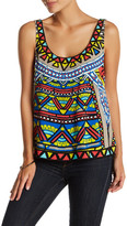 Flying Tomato Printed Double Scoop Tank