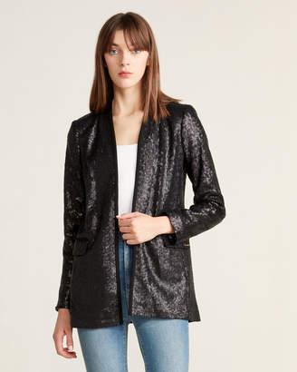 Calvin Klein Sequin Open Front Jacket