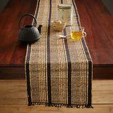 west elm Striped Natural Table Runner