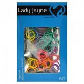 Lady Jayne Elastomer Bands 1cm, Assorted Colours 50 pack