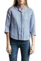 R 13 3/4 Sleeve Mini Check Cowboy Shirt