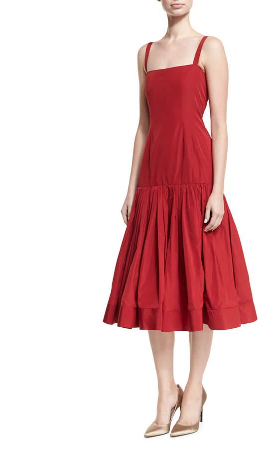 Brock Collection Danika Double-Layer Taffeta Midi Dress