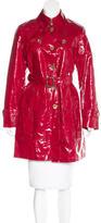 Burberry Nova Check-Trimmed Belted Coat