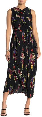 Kate Spade Rare Roses Pleated Maxi Dress