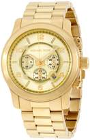 Michael Kors Runway MK8077 Gold Dial Two Tone Gold Stainless Steel 45mm Mens Watch