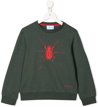 Lanvin Enfant Spider Print Sweater