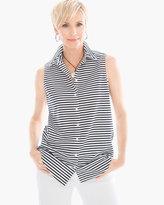 Chico's Effortless Sleek Stripe Sina II Shirt