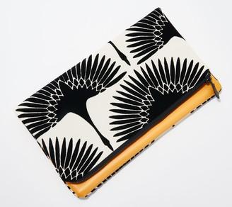 J. Harris Designs Faux-Leather Foldover Clutch - The Delaney