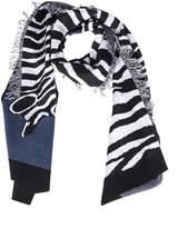 Paul Smith Zebra Pattern Scarf
