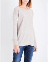 The White Company Boat-neck cotton-blend jumper