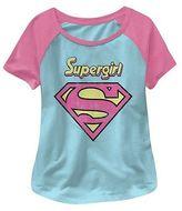 Supergirl Toddler Girls' Short Sleeve Tee - Blue/Pink
