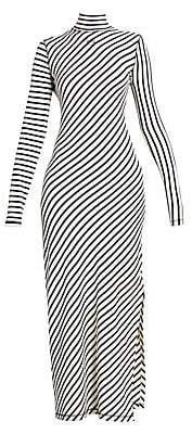 Loewe Women's Multi-Stripe Jersey Maxi Dress