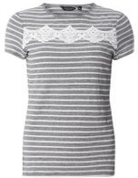 Dorothy Perkins Womens Navy Stripe T-Shirt With Trim