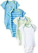 Gerber 4 Pack Onesie - Seriously Cute (Baby) - Blue-12 Months