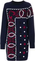 Sacai embroidered dress - women - Rayon/Wool - 1
