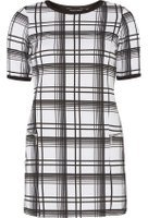 Dorothy Perkins Womens White Checked Tunic- White