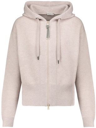 Brunello Cucinelli Embellished cashmere hoodie