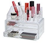 Richard's Homewares Richards Homewares - Clearly Chic 19 Compartment Cosmetic Organizer,3 Drawer