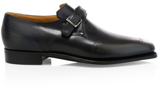 Corthay Verneuil Monk Strap Leather Dress Shoes