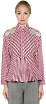 Antonio Marras Embellished Striped Cotton Shirt