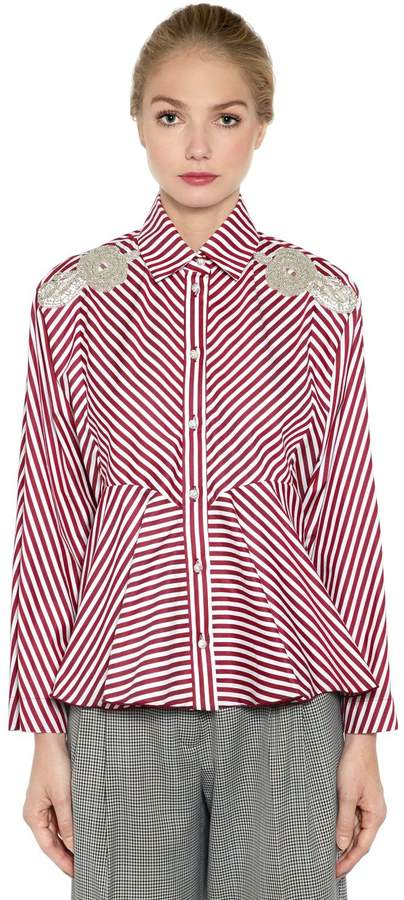 Antonio Marras Embellished Striped Cotton Shirt