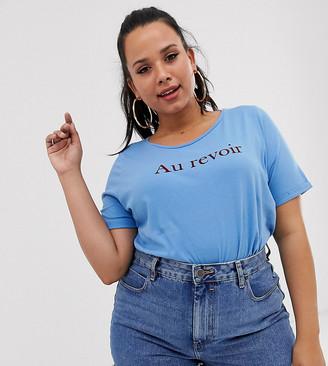 Junarose slogan t-shirt-Blue