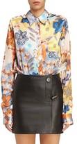 Acne Studios Women's Buse Floral Print Blouse
