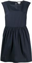 Woolrich sleeveless pleated mini dress