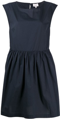 Woolrich sleeveless pleated mini dress
