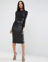 Asos PU Pencil Skirt with Pocket Detail