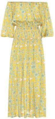 Rhode Resort Florence floral off-shoulder midi dress