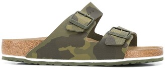 Birkenstock Buckled Camouflage Sandals