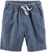 Carter's Woven Cotton Chambray Shorts, Toddler Boys