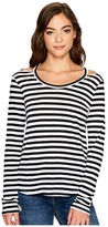LnA Stripe Bolero Long Sleeve Women's Long Sleeve Pullover