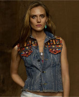 Denim & Supply Ralph Lauren Jacket, Sleeveless Embroidered Denim Vest