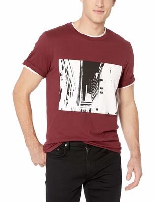 Calvin Klein Men's Short Sleeve City Logo Graphic T-Shirt