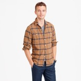 J.Crew Wallace & Barnes heavyweight flannel shirt in wheat windowpane