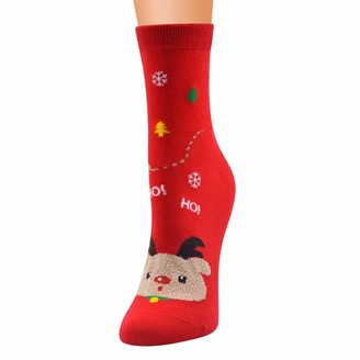 CHMORA 2020 Sale Clearance Unisex Christmas Thickness Stockings Sleeping Socks Soft Cozy Cotton Knitted Sock for Women Girls Xmas Gift Indoor