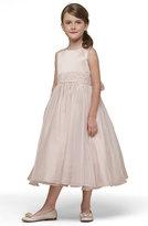 Us Angels Girl's Beaded Satin Sleeveless Dress