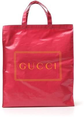 Gucci Logo Printed Tote Bag
